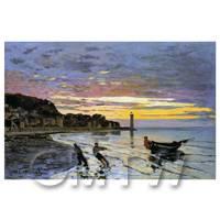 Claude Monet Painting Hauling A Boat Ashore, Honfleur