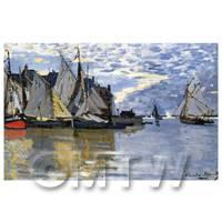 Claude Monet Painting Sailboats