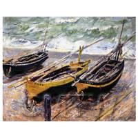 Claude Monet Painting 3 Fishing Boats