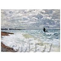 Claude Monet Painting The Sea At Saint Adresse
