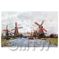 Claude Monet Painting Windmills Near Zaandam