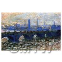 Claude Monet Painting Waterloo Bridge