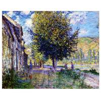 Claude Monet Painting Banks Of The Seine At Lavacourt