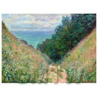 Claude Monet Painting Path At La Cavee Pourville