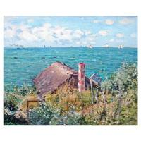 Claude Monet Painting The Cabin At Sainte Adresse