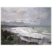 Claude Monet Painting The Beach At Saint Adresse