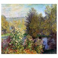 Claude Monet Painting A Corner Of The Garden At Montgeron