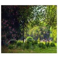 Claude Monet Painting A View Of Park Monceau