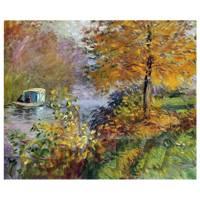 Claude Monet Painting The Studio Boat