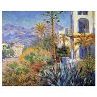 Claude Monet Painting Villas At Bordighera