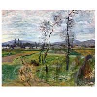 Claude Monet Painting Gennevilliers Plain