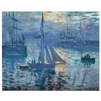 Claude Monet Painting Sunrise Over The Marina