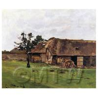 Claude Monet Painting Farm In Normandy