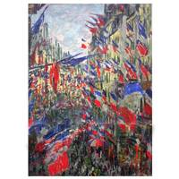 Claude Monet Painting The Rue Montorgueil With Flags