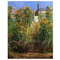 Claude Monet Painting The Steps At Vetheuil