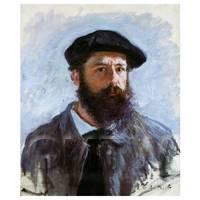 Claude Monet Painting Self-Portrait With A Beret