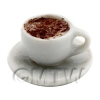 Dolls House Miniature Cappaccino With Chocolate Dust