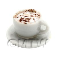 Dolls House Miniature Cappaccino With Chocolate Powder
