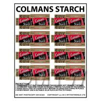Dolls House Miniature Sheet of 8 Colmans Starch Boxes