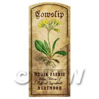 Dolls House Herbalist/Apothecary Cowslip Herb Short Colour Label