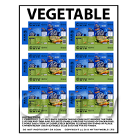 Dolls House Miniature Packaging Sheet of 6 Vegetable Cup a Soup