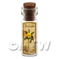 Dolls House Apothecary Damiana Herb Short Colour Label And Bottle