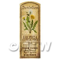 Dolls House Herbalist/Apothecary Dandelion Herb Long Colour Label