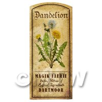 Dolls House Herbalist/Apothecary Dandelion Herb Short Colour Label