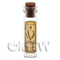 Dolls House Apothecary Dandelion Herb Long Sepia Label And Bottle