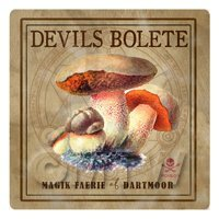 Dolls House Miniature Apothecary Devils Bolete Fungi Colour Box Label