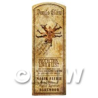 Dolls House Herbalist/Apothecary Devils Claw Herb Long Colour Label