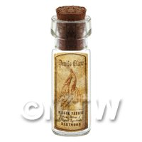 Dolls House Apothecary Devils Claw Herb Short Sepia Label And Bottle