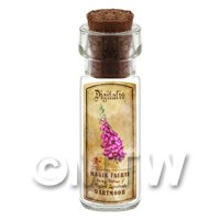 Dolls House Apothecary Fox Glove Herb Short Colour Label And Bottle