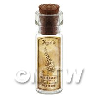 Dolls House Apothecary Fox Glove Herb Short Sepia Label And Bottle