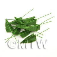 Dolls House Miniature Medium Palm Style Leaf Stem