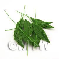 Dolls House Miniature Large Palm Style Leaf Stem
