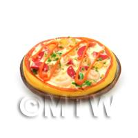 Dolls House Miniature Whole Prawn and Pepperoni Pizza