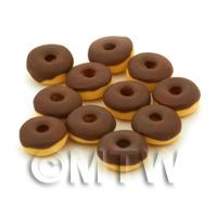 Dolls House Miniature Belgian Chocolate Iced Donut