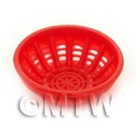 Large Dark Red Dolls House Miniature Plastic Bowl