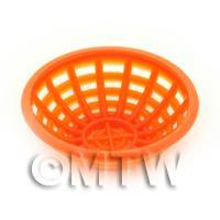 Medium Dark Orange Dolls House Miniature Plastic Bowl