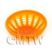 Large Light Orange Dolls House Miniature Plastic Bowl