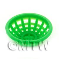 Small Green Dolls House Miniature Plastic Bowl