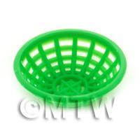 Medium Green Dolls House Miniature Plastic Bowl
