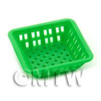 Large Green Dolls House Miniature Square Plastic Basket