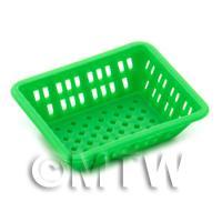 Large Green Dolls House Miniature Retangular Plastic Basket