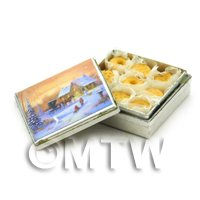 Miniature Biscuit Tin And Biscuits