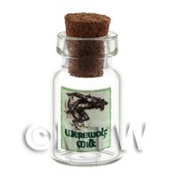 Dolls House Miniature Werewolf Milk Magic Storage Jar