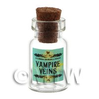 Dolls House Miniature Vampire Veins Magic Storage Jar