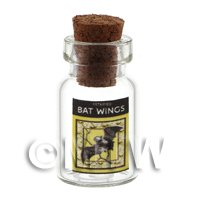Dolls House Miniature Bat Wings Magic Storage Jar (Style 2)