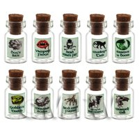 Set of 8 Glass Magic Witches Jars Set 1/7